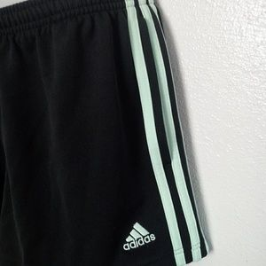 adidas Shorts - ADIDAS Black and Blue Stripe Athletic Shorts